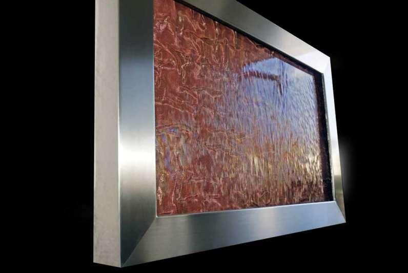 Wasserbilder ( Wandbrunnen ) mit Wasserläufen aus Acrylic Couture®